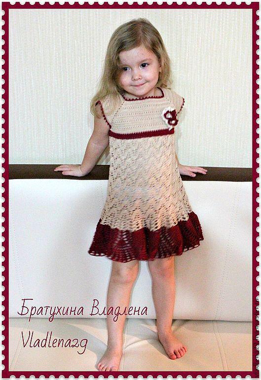 """Одежда для девочек, ручной работы. Ярмарка Мастеров - ручная работа. Купить Платье """"Шебби Шик"""". Handmade. Орнамент, вызанное платье"""