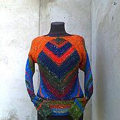 Одежда ручной работы. Ярмарка Мастеров - ручная работа свитер из мериносовой шерсти с шелком ручная работа. Handmade.