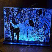 Для дома и интерьера ручной работы. Ярмарка Мастеров - ручная работа Лошадки Сувенир с подсветкой на заказ. Handmade.