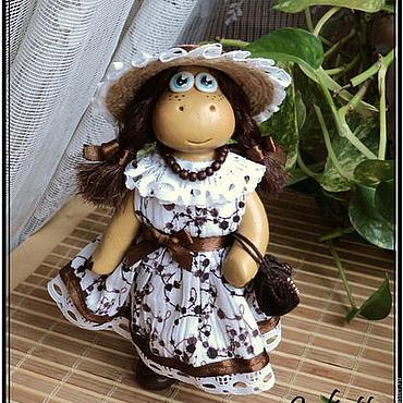"""Куклы и игрушки ручной работы. Ярмарка Мастеров - ручная работа Бегемотиха """"Боня"""". Handmade."""