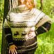 Кофты и свитера ручной работы. Ярмарка Мастеров - ручная работа. Купить свитер из собачьей шерсти в норвежском стиле. Handmade.