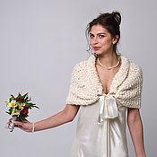 Capes handmade. Livemaster - original item Wedding Cape,Bridal Shawl,Wedding Bolero,Bridal Shrug,Winter Wedding,Bridal Wrap,Capelet, Bridal Cov. Handmade.