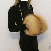 Классическая сумка ручной работы. Ярмарка Мастеров - ручная работа Муфта из меха сибирской рыжей лисы.. Handmade.