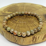 Украшения handmade. Livemaster - original item A bracelet made of unakite Verey. Handmade.