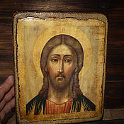Картины и панно ручной работы. Ярмарка Мастеров - ручная работа Икона Спасителя нашего Иисуса Христа. Handmade.
