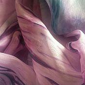 Аксессуары ручной работы. Ярмарка Мастеров - ручная работа Палантин шелковый шибори Lilla. Handmade.
