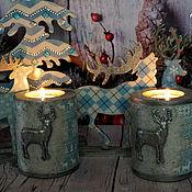 Подарки к праздникам handmade. Livemaster - original item Christmas reindeer set. Handmade.