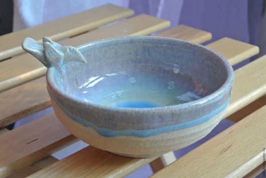 Тарелки ручной работы. Ярмарка Мастеров - ручная работа. Купить Миска керамика Рыбалка. Handmade. Голубой, белый, керамичекая посуда