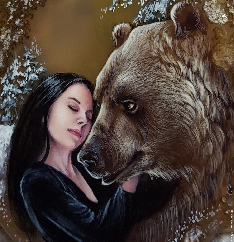 Фото картинки медведь и девушки