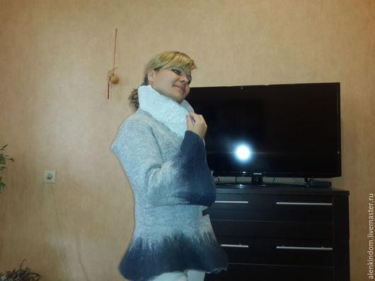 Пиджаки, жакеты ручной работы. Ярмарка Мастеров - ручная работа. Купить Жакет ВСЕ ОТТЕНКИ СЕРОГО.. Handmade. Серый