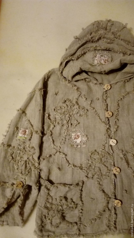 Boho jacket linen 'A La Alsace', Wind Jackets, Stupino,  Фото №1