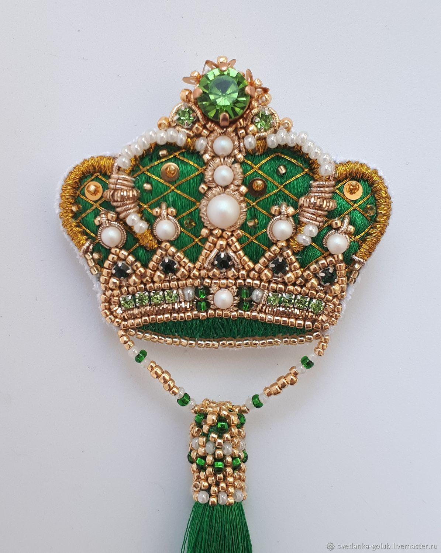 МК: Брошь корона с кисточкой, Схемы для вышивки, Азов,  Фото №1