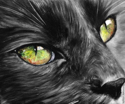 Животные ручной работы. Ярмарка Мастеров - ручная работа. Купить Задумчивый взгляд (25 х 30 см). Handmade. Кот