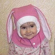 Работы для детей, ручной работы. Ярмарка Мастеров - ручная работа шапка -шлем Розовый зайка. Handmade.