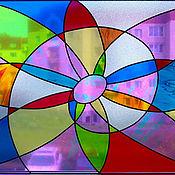 """Для дома и интерьера ручной работы. Ярмарка Мастеров - ручная работа Витраж """"Фантазия"""". Handmade."""