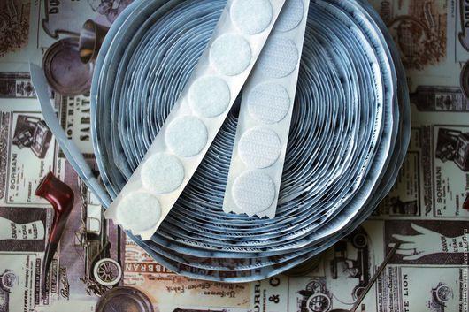Шитье ручной работы. Ярмарка Мастеров - ручная работа. Купить Липучки круглые 15 мм самоклеющиеся  10 пар, велкро. Handmade.