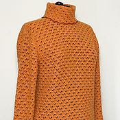 Одежда handmade. Livemaster - original item BIG SIZE!Cashmere sweater. Autumn gold. Handmade.
