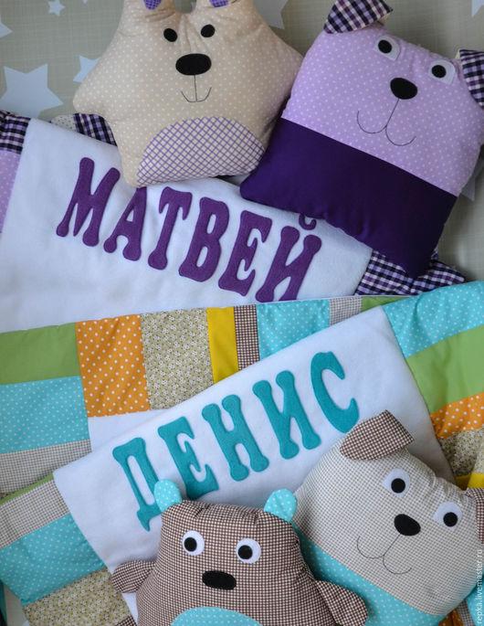 Пледы и одеяла ручной работы. Ярмарка Мастеров - ручная работа. Купить Именное одеяло. Handmade. Рисунок, конверт в коляску