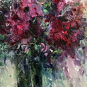 Картины и панно handmade. Livemaster - original item Abstract flowers, oil painting. Handmade.