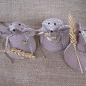 Куклы и игрушки ручной работы. Ярмарка Мастеров - ручная работа Мышь полевая с колоском. Handmade.