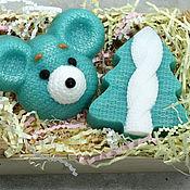 Мыло ручной работы. Ярмарка Мастеров - ручная работа Набор мыла новогодний Вязаная мышка и елочка. Handmade.