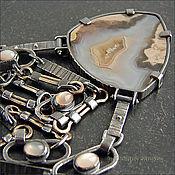 Украшения ручной работы. Ярмарка Мастеров - ручная работа Ожерелье с агатом. Handmade.