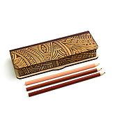 Канцелярские товары handmade. Livemaster - original item Box pencil case. Hard wood. Handmade.