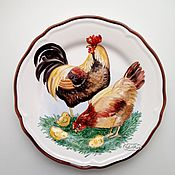 Посуда handmade. Livemaster - original item Painted porcelain Plate porcelain Friendly family. Handmade.