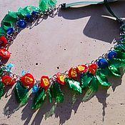 Украшения ручной работы. Ярмарка Мастеров - ручная работа колье Домик в деревне. Handmade.