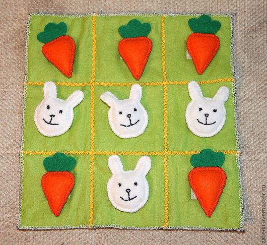 Развивающие игрушки ручной работы. Ярмарка Мастеров - ручная работа. Купить Крестики-нолики, зайчики-морковки. Handmade. Крестики-нолики
