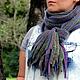 Шарфы и шарфики ручной работы. Ярмарка Мастеров - ручная работа. Купить Длинный шарф Ирисы. 100% шерсть.. Handmade. Разноцветный