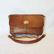Сумки и аксессуары handmade. Livemaster - original item Handbag made of Python skin. Christmas gift.. Handmade.