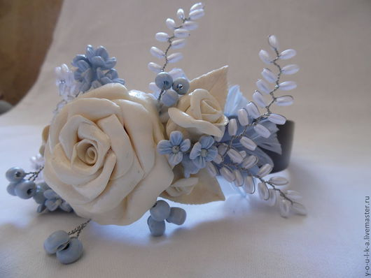 "ободок ""белая роза"""
