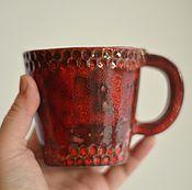 Посуда ручной работы. Ярмарка Мастеров - ручная работа Кружка красная, прекрасная. Handmade.