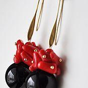 """Украшения ручной работы. Ярмарка Мастеров - ручная работа Серьги """"Красное и Черное"""". Handmade."""