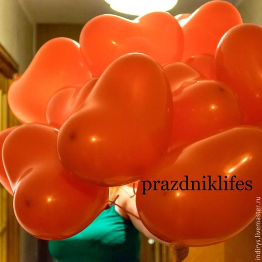 Праздничная атрибутика ручной работы. Ярмарка Мастеров - ручная работа. Купить Воздушные шарики сердца - романтический подарок. Handmade. Разноцветный