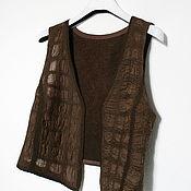 """Одежда ручной работы. Ярмарка Мастеров - ручная работа Жилет """"Горные террасы"""". Handmade."""
