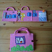 Куклы и игрушки ручной работы. Ярмарка Мастеров - ручная работа Куклы Зоя и Карина с домиком. Handmade.