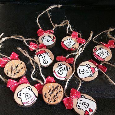 """Для дома и интерьера ручной работы. Ярмарка Мастеров - ручная работа Набор подвесок """"Мишки"""". Handmade."""