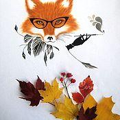 Одежда handmade. Livemaster - original item Sweatshirt by painted Fox. Handmade.