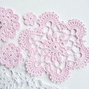 Материалы для творчества handmade. Livemaster - original item A set of doilies and crochet flowers. Handmade.