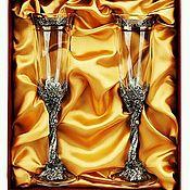 Подарочные боксы ручной работы. Ярмарка Мастеров - ручная работа Набор бокалов для шампанского ВИНОГРАДНАЯ ЛОЗА. Handmade.