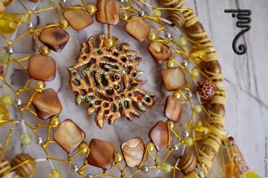 """Ловцы снов ручной работы. Ярмарка Мастеров - ручная работа. Купить Ловец снов """" Золотой рыб """". Handmade."""
