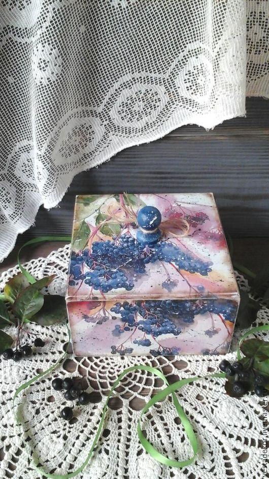 Корзины, коробы ручной работы. Ярмарка Мастеров - ручная работа. Купить Короб Акварели осени в стиле кантри,винтаж. Handmade.