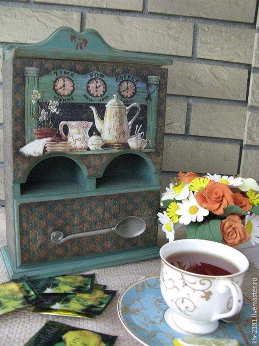 """Кухня ручной работы. Ярмарка Мастеров - ручная работа. Купить Двойной чайный домик """"Встреча за чаем"""". Handmade. Декупаж"""