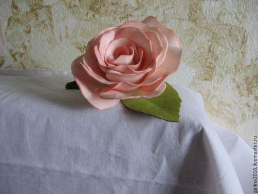 Заколки ручной работы. Ярмарка Мастеров - ручная работа. Купить заколка из фоамирана Роза чайная. Handmade. Заколка для волос