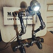 Для дома и интерьера ручной работы. Ярмарка Мастеров - ручная работа «Ти-рекс» - светильник из водопроводных труб в стиле loft/steampunk. Handmade.
