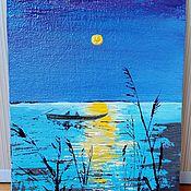 Картины и панно handmade. Livemaster - original item Oil painting fishing