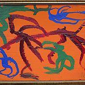 Картины и панно ручной работы. Ярмарка Мастеров - ручная работа Абстрактная картина Паутина. Handmade.