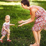 Одежда ручной работы. Ярмарка Мастеров - ручная работа Платья для мамы и дочки Family Look, детское платье, платье для девочк. Handmade.